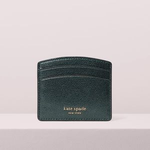 BRAND NEW KATE SPADE Leather Card Holder Green